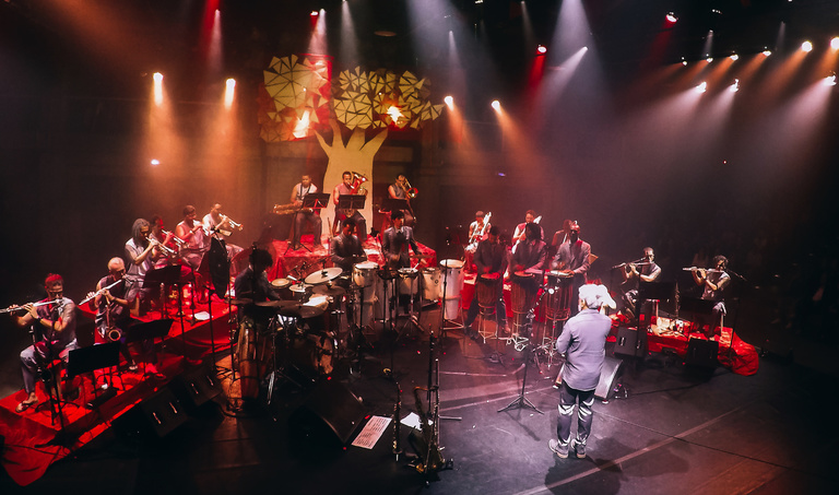 "Maison des arts de Créteil - Cyro Baptista & Brian Marsella<br>""These are the Songs"" <br>Letieres Leite & Orkestra Rumpilezz BIG BAND feat. Tony Allen"